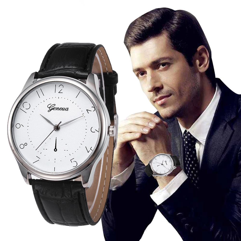geneva Watches Luxury Men's Quartz Watches Wrist Watch for ...
