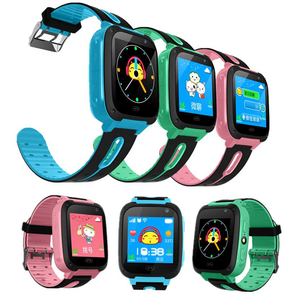 Kids Smart Watch S4 Waterproof SIM Card Dial SOS Camera Children Smart watch for Baby safe Android IOS Phones Locator