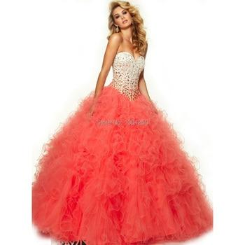 5e6280559 Vestidos de 15 años verde menta   Turquoise quinceañera Vestidos cristales  Sweetheart Sexy de la colmena de deshuesado largo balón vestido dulce 16  vestido