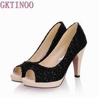 High Quality 2015 New Open Toe High Heels Women Pumps Brand New Shoes Women Sandals Wedding