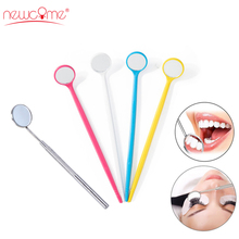 Checking Eyelash Extension Mirror Stainless Steel Dental Instruments Mouth Professionals Make Up Teeth Clean Oral Tools
