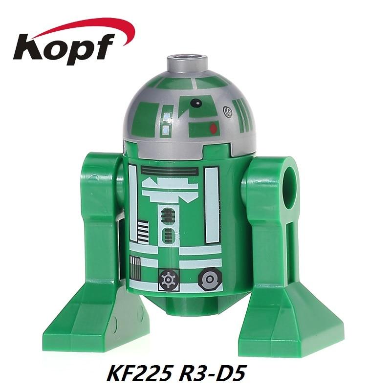 KF225 Star Wars BB8 R3-D5 Deathstroke Jek14 Fett Han Solo Luke Skywalker Model Action Building Blocks Gift Education Chidren