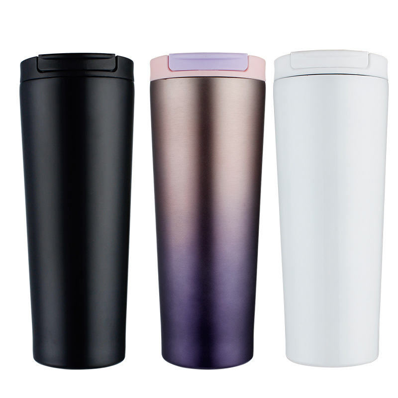 Creative 500ml Vacuum Thermos Mug Coffee Cup Thermos Cup Stainless Steel Mug Cup With Lid Travel Vacuum Flask Mugs For Coffee