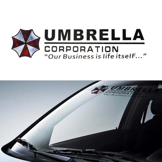 Vodool 1pc umbrella corporation car front rear windshield decal auto window sticker car styling accessories
