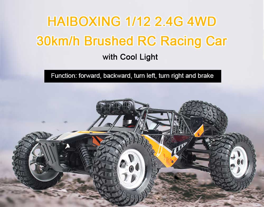 2018 High Spped RC Car 1/12 2.4G 4WD 30km/H Racing Brushed RC Cars Off-Road Desert Truck With LED Light Toys 2 Channels RC Toys цены