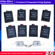 2 remote control 8 pcs Stage fireworks firing system indoor fountain pyrotechnic Wireless Igniter Fireworks firing machine