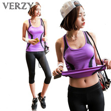 2017 New Sale Brand Women s Yoga Gym Two piece Set Fitness Wear Breathable Vest and