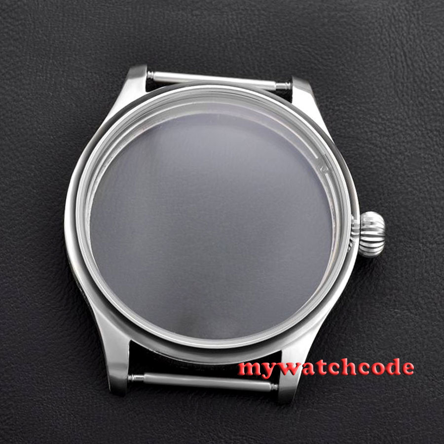 44mm Watch portuguese 316L stainless steel CASE fit 6498 6497 eat movement C8 44mm watch 316l stainless steel rose golden plated case fit 6498 6497 movement12