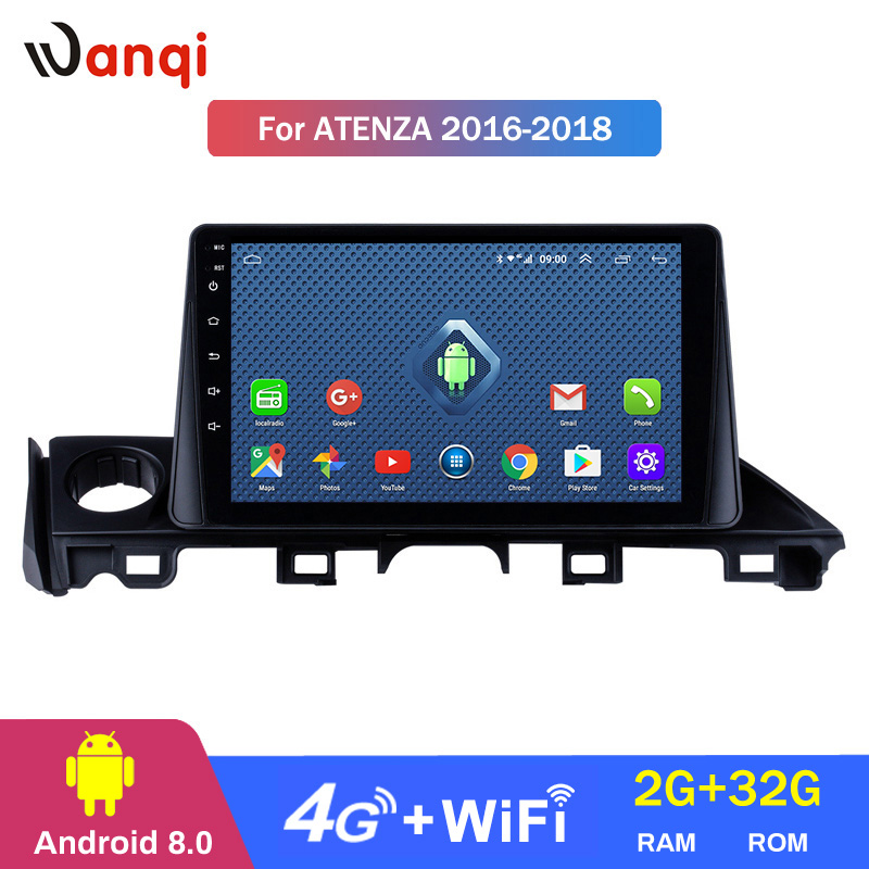 4G Lte All Netcom 9 inch Android 8.0 HD TouchScreen GPS Navigation system for 2017 Mazda ATENZA with Bluetooth USB Mirror Link