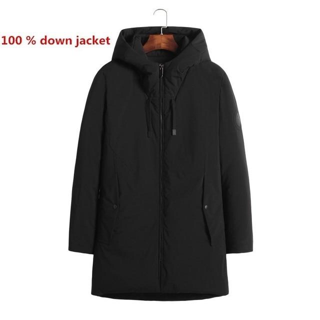 100 Down Jacket Parka Homme Masculina Long Aliexpress Coats Canada