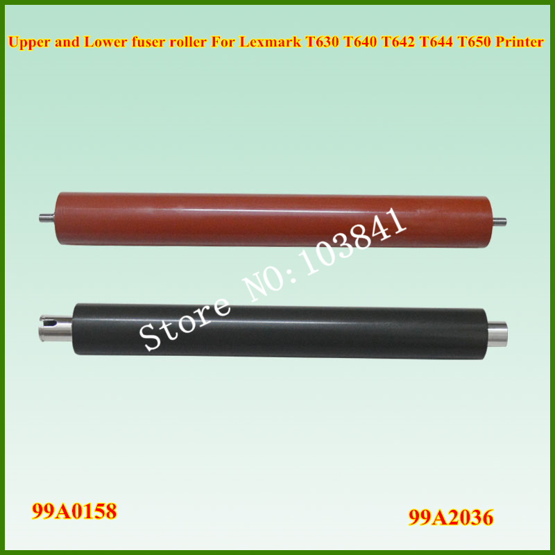 99A2036 99A1549 Upper Fuser Roller + 99A2470 99A0158 Lower Sleeved Roller For Lexmark T630 T632 T640 T642 T644 T650 T652 T654 1pcs for brother printers mfc9140 9330 9340 hl3150 upper fuser roller