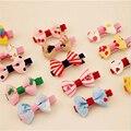 10pcs/lot Sweet Cute Baby Girls Hair Clips Kids Ribbon Hairpins Bow Clip Children Headwear Hair Accessories CC2179