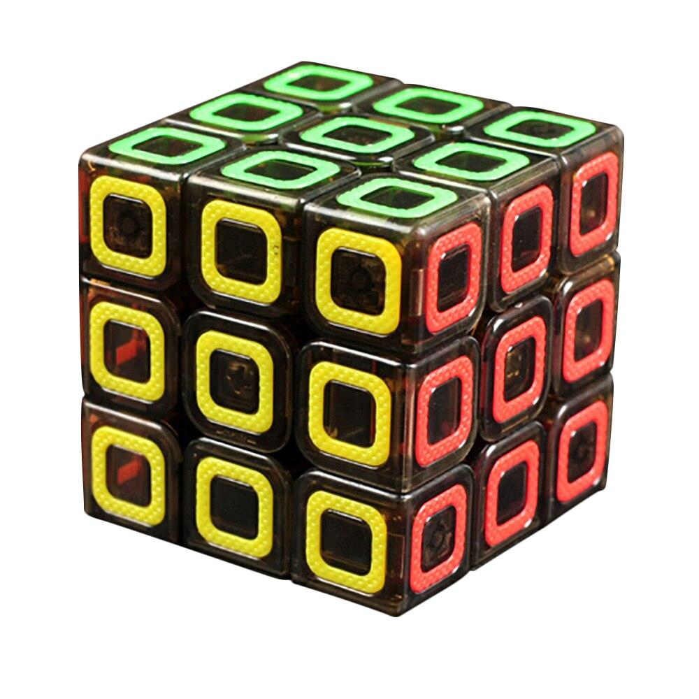 New Qiyi Xin Ciyuan Transparent Black 3x3x3 Mo Fang Ge Magic Cube