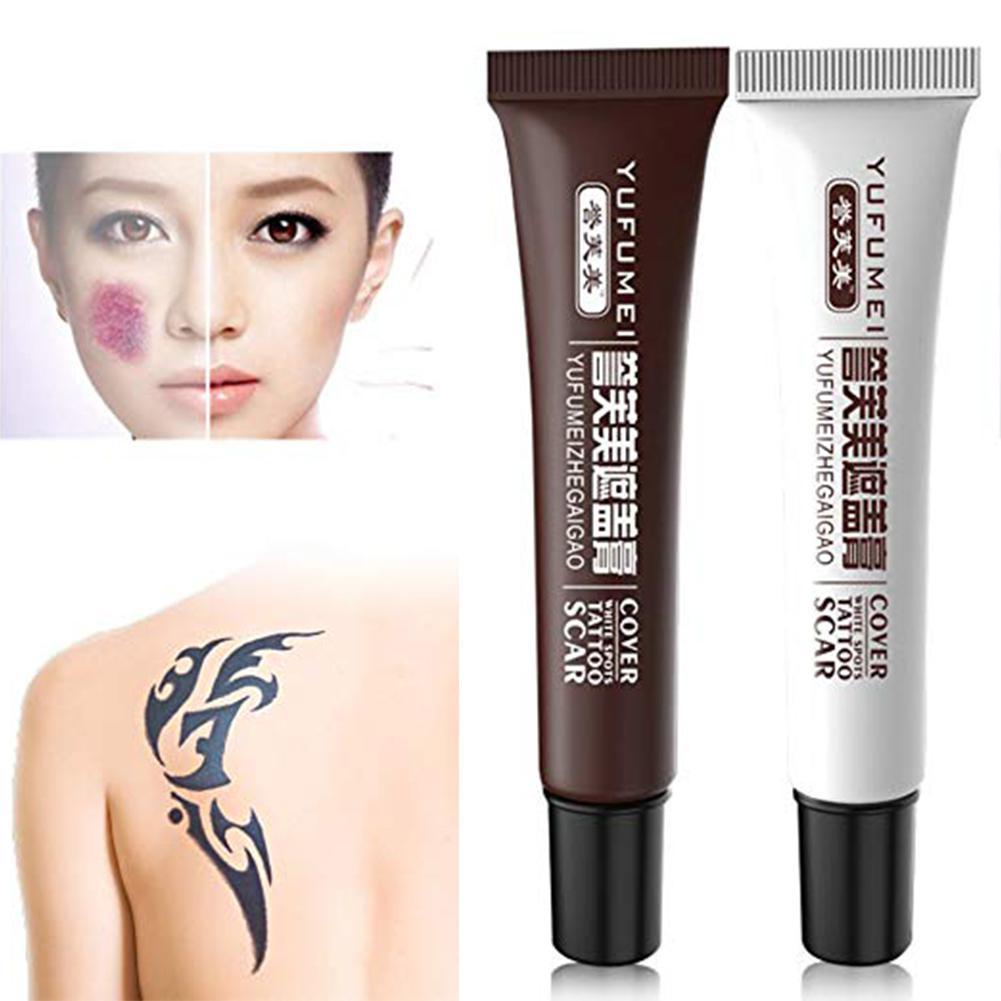 2 Pcs/set Concealer Cream Tattoo Cover Up Concealer Set Waterproof Total Coverage Birthmarks Spot Scar Concealer Kit