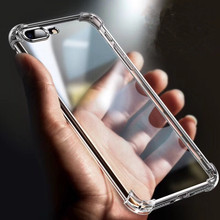 Luxury Shockproof Bumper Transparent Soft TPU Phone Case For iPhone X XS XR Max  8 7 6 6S Plus Clear protection Back Cover