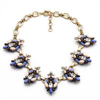 Wing Yuk Tak Rushed Necklaces Women Collares Collier New Exaggeration Flowers Statement Choker Necklace Jewelry Wholesale