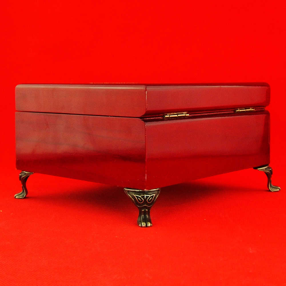Мебельная ножка протектор античный сплав Ювелирная Подарочная коробка деревянный корпус Декоративные ножки ноги уголок для мебели падение