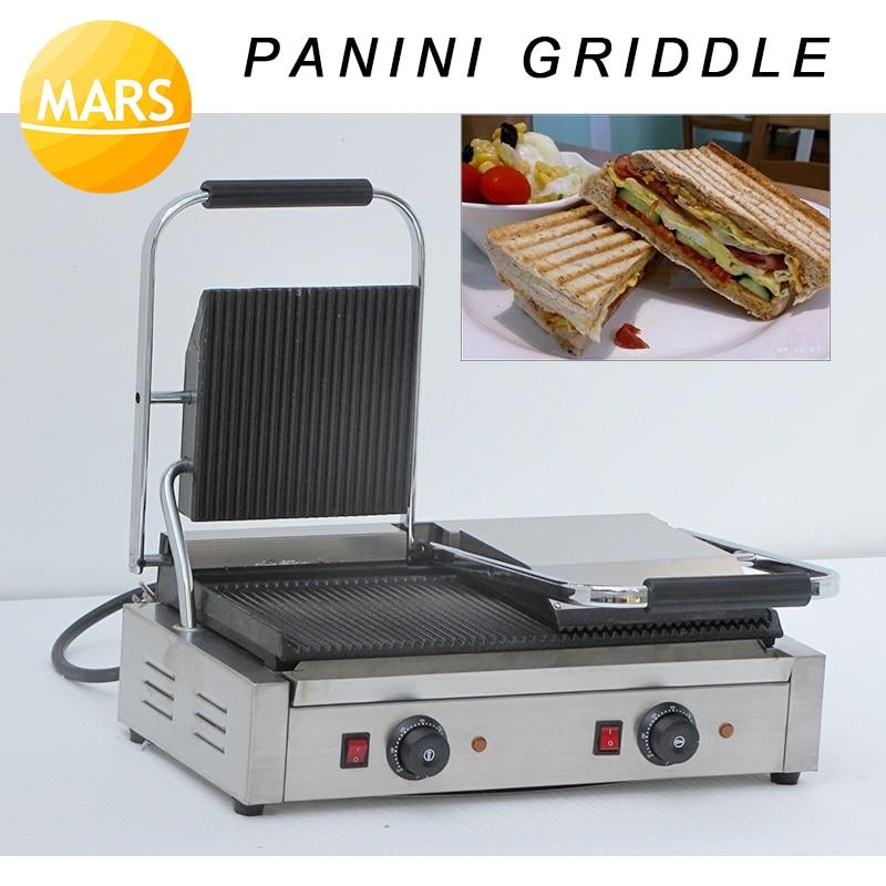 2 Plates Panini Sandwich Maker Electric Panini Griddle; Panini Grill Press; Panini Baking Plates Toaster Machine|Waffle Makers| |  - title=