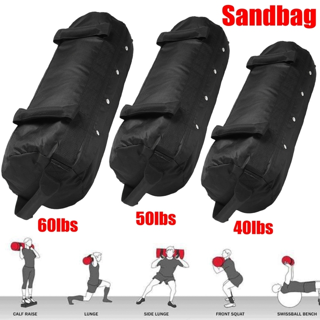 4 Pcs/Set Weightlifting Sandbag Heavy  Sand Bags Sand Bag MMA Boxing  Military Power Training Body Fitness Equipment 3