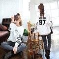 Kpop BTS SUGA V HARAJUKU Bangtan niños mujeres de moda o-cuello camiseta ocasional BTS Logo ropa de manga larga