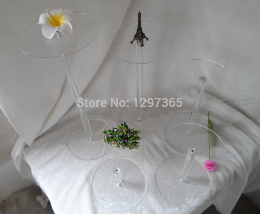 YAXIN acrylic handiwork High Quality Beautuful acrylic wedding Cake Stand