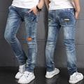Children Boys Denim Jeans New Design 2017 Spring Fashion Solid Elastic Waist Trousers Casual Cotton Loose Kids Pants Clothes Hot