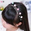 Cabelo diamante hoop Headband Da Flor da menina crianças bonito Coreano princesa minimalista fivela cabeça cocar