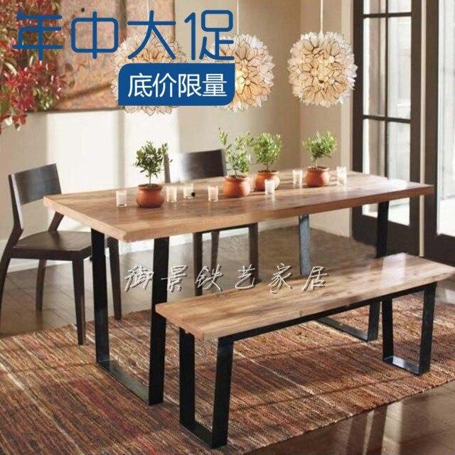 Madera altillo muebles, madera de hierro forjado vendimia escritorio ...