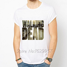 The Walking Dead White Printed T-Shirt