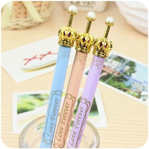 36 pcs lote coreia coroa classica elegante princesa presente de papelaria caneta esferografica escritorio papelaria