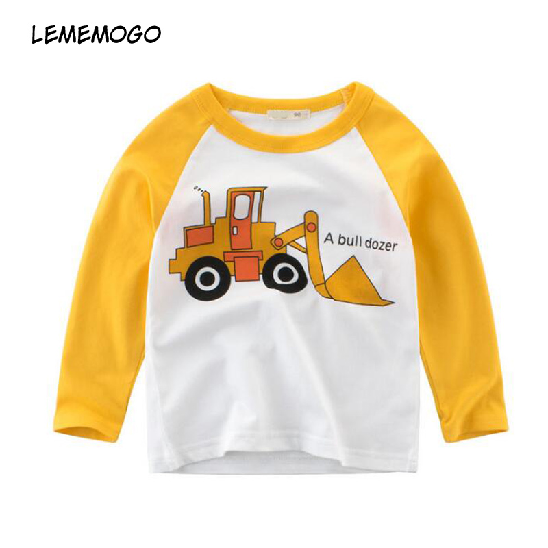 Lememogo Automne Bébé Coton T-shirts Garçons Nouveau Enfants Multi-couleur  Garçon de Bande 2188dea336b