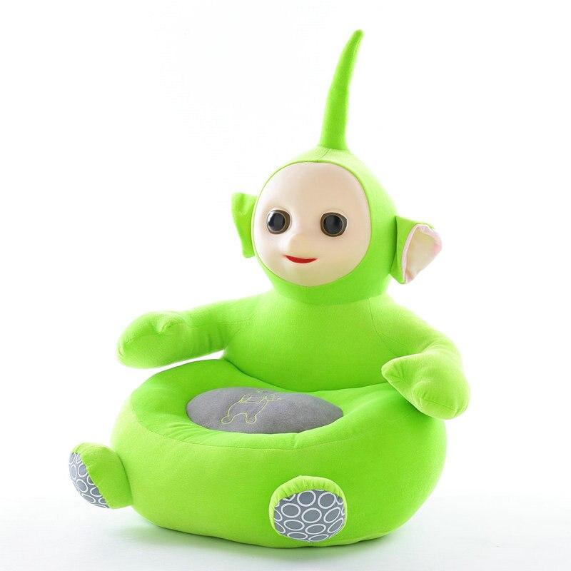 Teletubbies enfants apprendre chaise bébé poupée Tele tubbies tinky winky Dipsy Laa Po film peluche 3D Silicone visage jouets pour enfants - 4
