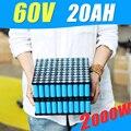 Литиевая аккумуляторная батарея  60 в 20 А · ч  батарея для электрического велосипеда 60 в  для двигателя 2000 Вт с зарядным устройством 6A 60A BMS  Пол...