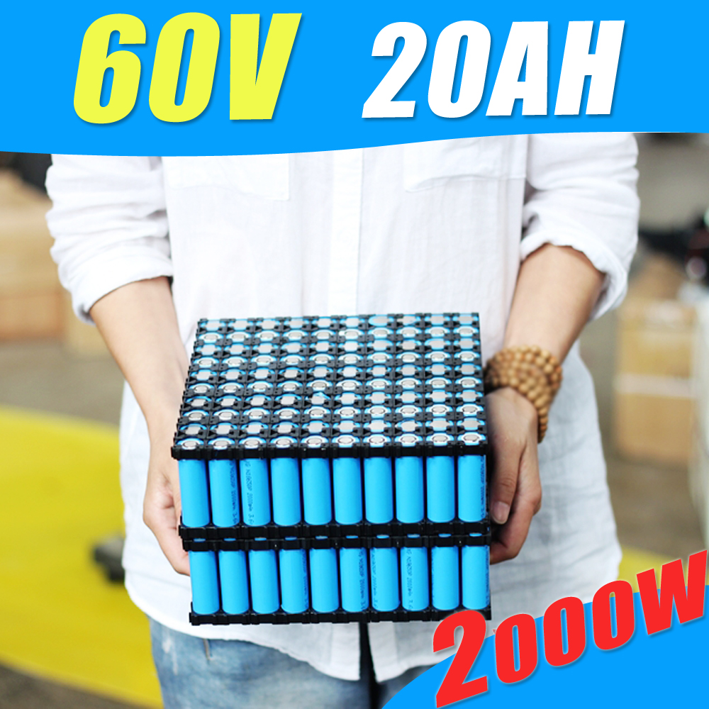 Lithium Rechargeable Battery 60V 20Ah Electric Bike Battery 60V For 2000W Motor With 6A Charger 60A BMS Powerfull battery pack 36v 1000w e bike lithium ion battery 36v 20ah electric bike battery for 36v 1000w 500w 8fun bafang motor with charger bms