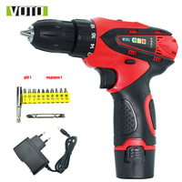 12V Battery Screwdriver Charged Drill Electric Screwdriver Electric Drill Screwdriver Rechargeable With Lithium Battery
