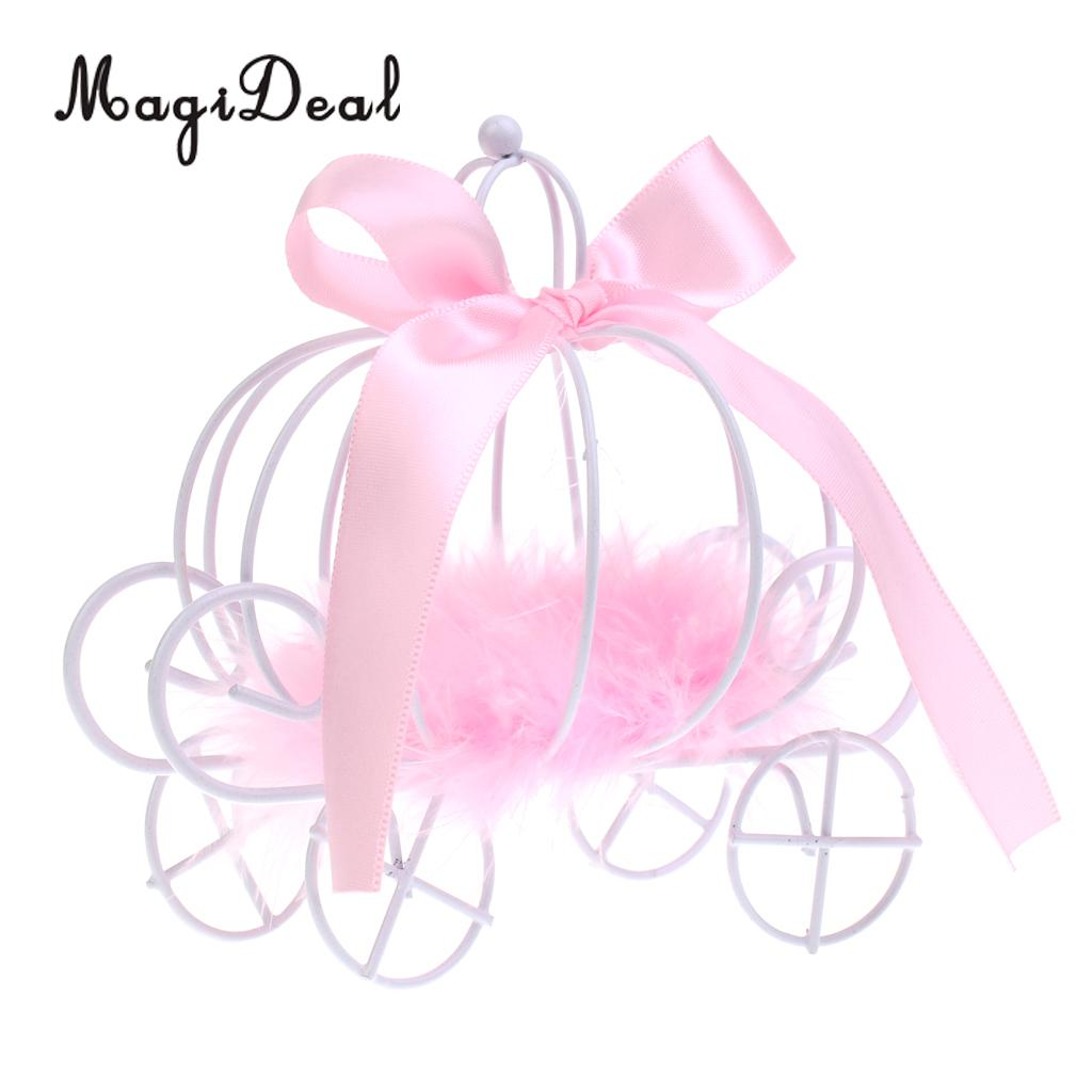 MagiDeal Romantic Metal Pumpkin Carriage Chocolate Candy Boxes ...
