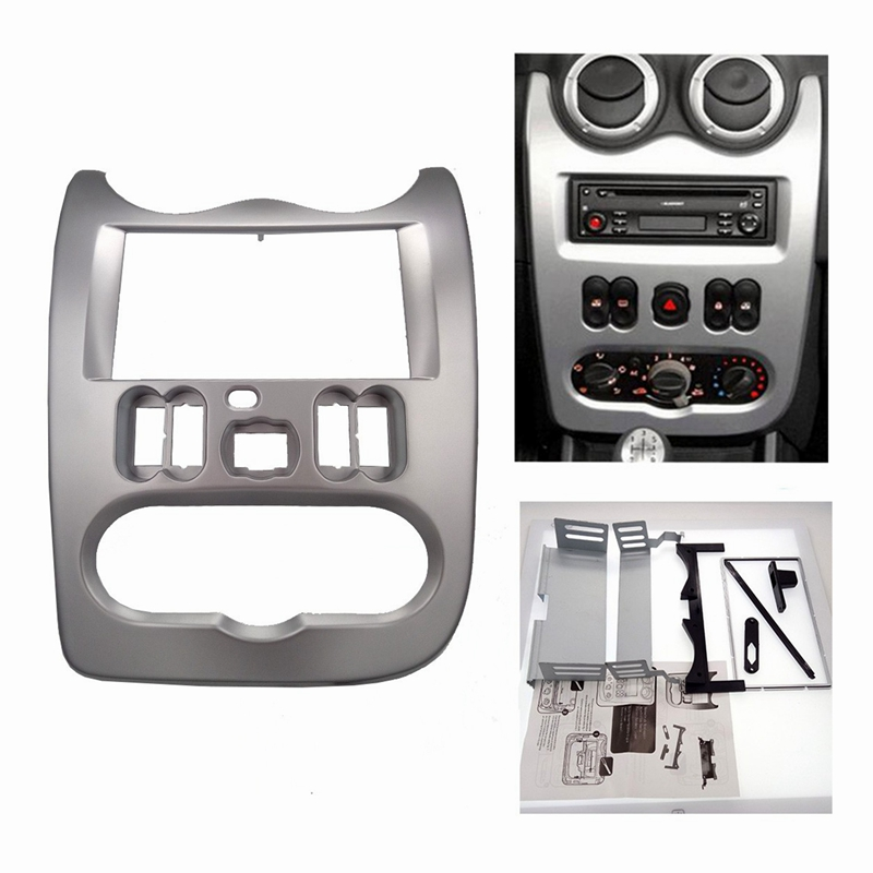Car Radio Fascia for RENAULT Logan Sandero DACIA Duster Facia Frame Panel Dash Adapter CD trim Bezel Frame-in Fascias from Automobiles & Motorcycles