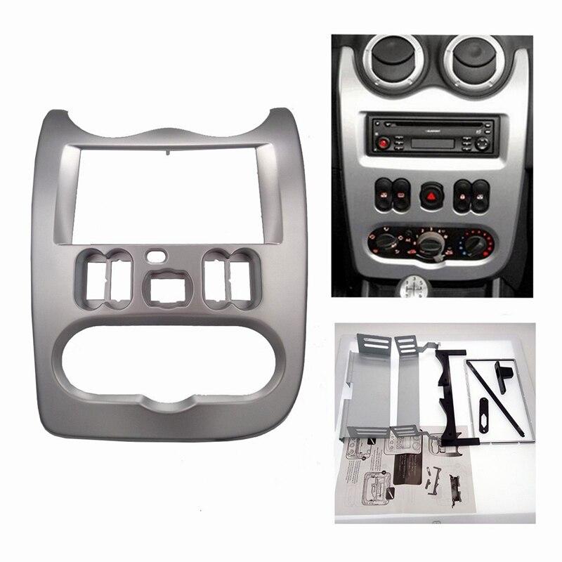 Fáscia Rádio do carro para RENAULT Duster Logan Sandero DACIA Adaptador CD Facia Quadro Painel de instrumentos guarnição Moldura do Quadro