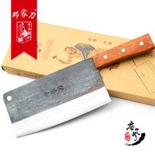 Traditionelle kohlenstoff stahl küche Zubehör messer schneiden/hacken knochenmesser/schneidmesser + kochmesser/Utility Messer Chinesischen stil