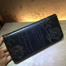 TERSE_2017 New style designer women long wallet handmade patina leather purse man top genuine leather vintage engraving service