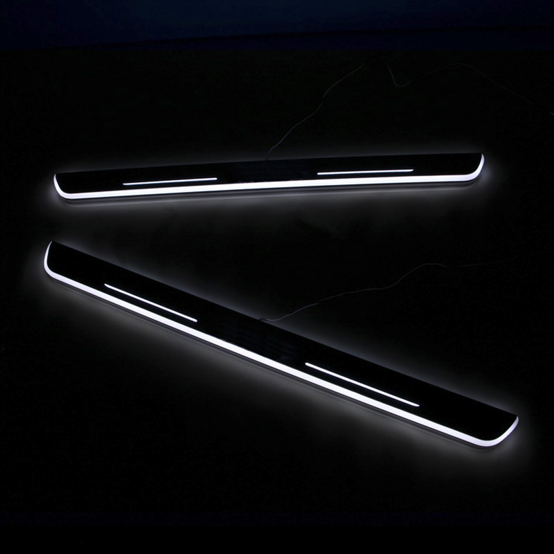 <font><b>LED</b></font> Car Scuff Plate <font><b>Trim</b></font> Pedal Door Sill Moving Welcome Light For VW Volkswagen <font><b>Golf</b></font> 7 MK7 MK7.5 2014-2017 Logo Customized image