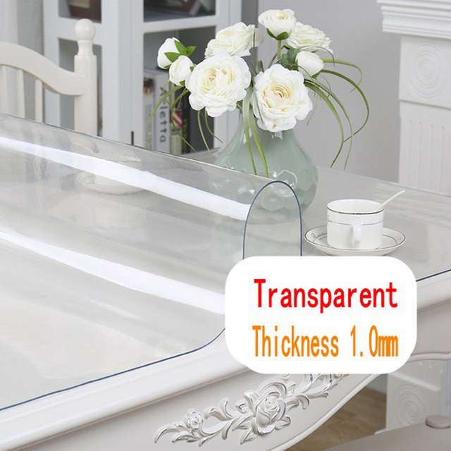 Waterproof Plain Transparent Tablecloth