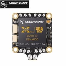 1 sztuk 4w1 Hobbywing XRotor 40A Mikro 2-5 S BLHeli_S DShot600 Gotowy FPV Racing Bezszczotkowy ESC Wsparcie DShot/300/600 Dla RC drone