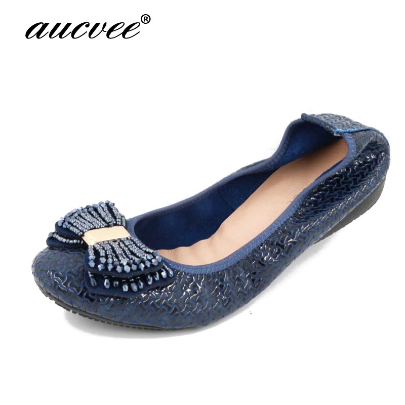 Ladies Shoes Fashion Rhinestone Bow Women Flats Spring Slip On Loafers Women Round Toe Flat Shoes Waman Black/Apricot/Blue Flats odetina 2017 new women pointed metal toe loafers women ballerina flats black ladies slip on flats plus size spring casual shoes