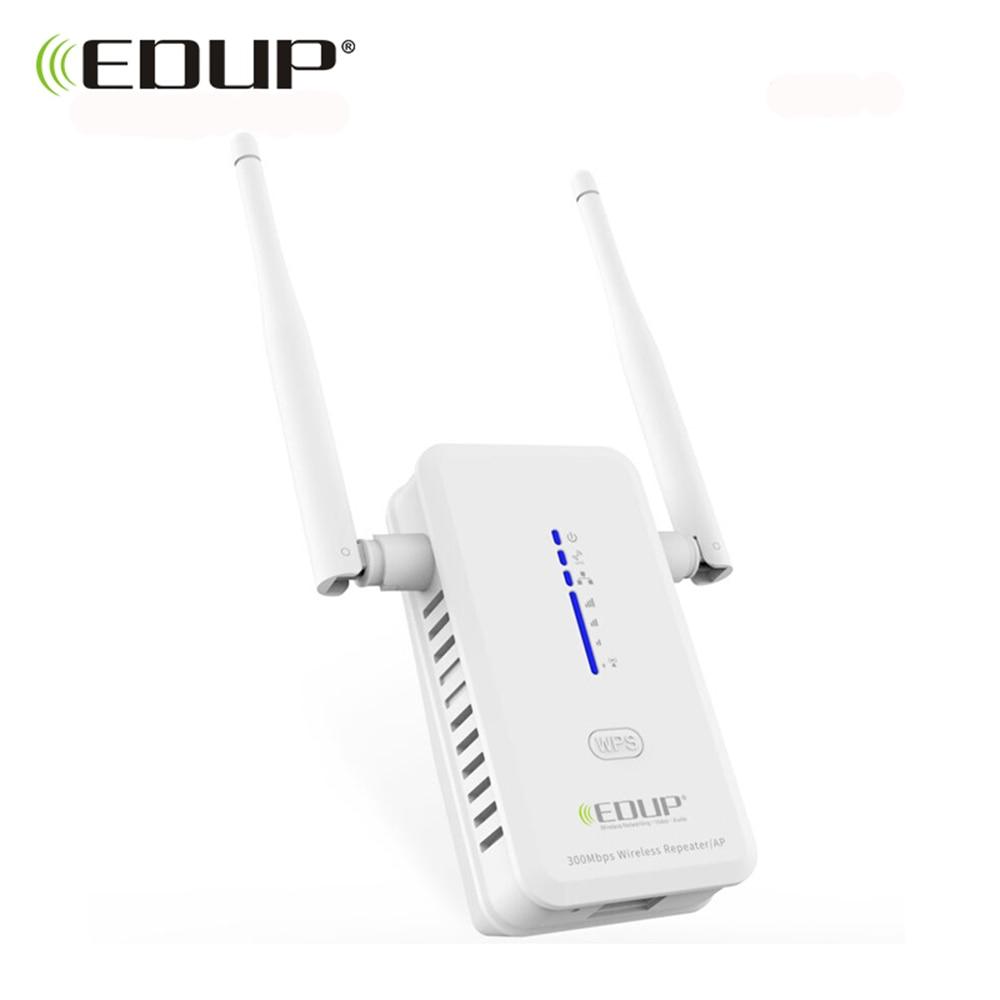 EDUP Wireless WiFi Repeater 300Mbps 802.11n/b/g Wi-fi Range Extander 2*2dbi Antennas 2.4GHz wifi Signal Amplifier Booster