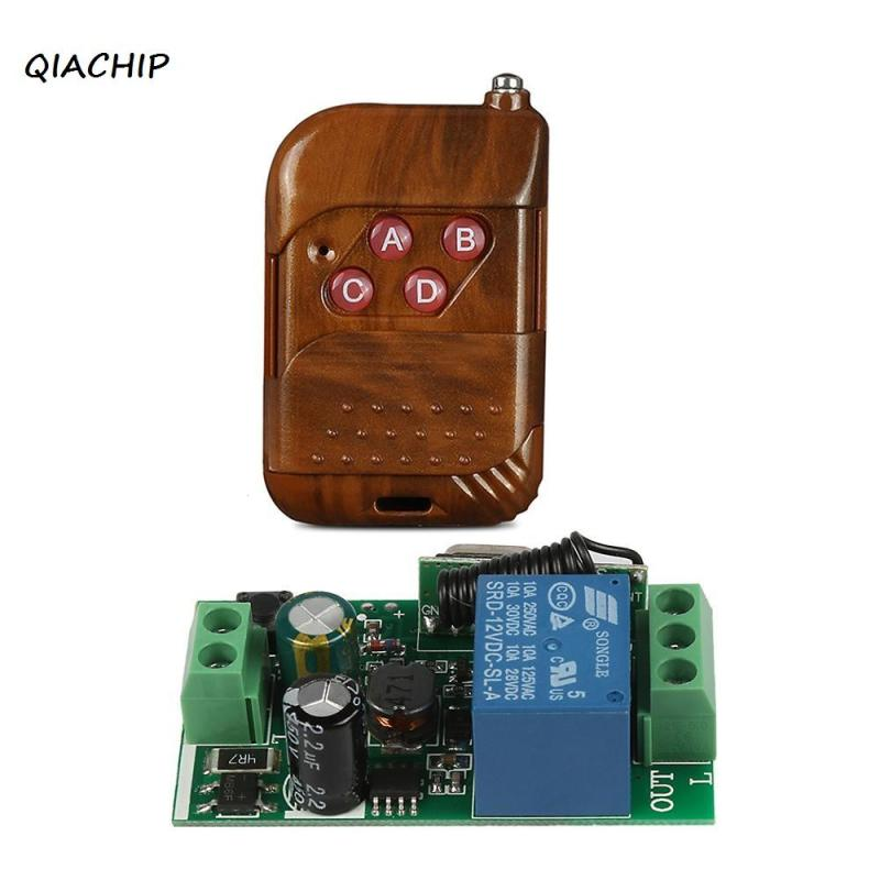 Universal 433MHz RF 4-Channel Remote Control Switch Learning Code Transmitter with 433MHz 1CH RF Remote Controls Receiver Module