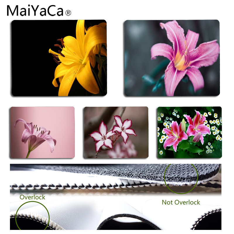 Babaite 2018 New Lily Customized MousePads Computer Laptop Anime Mouse Mat Size for 180x220x2mm and 250x290x2mm Small Mousepad