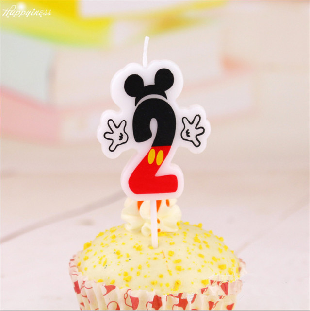 Party Candle 2 About Mickey Mouse Birthday Cake