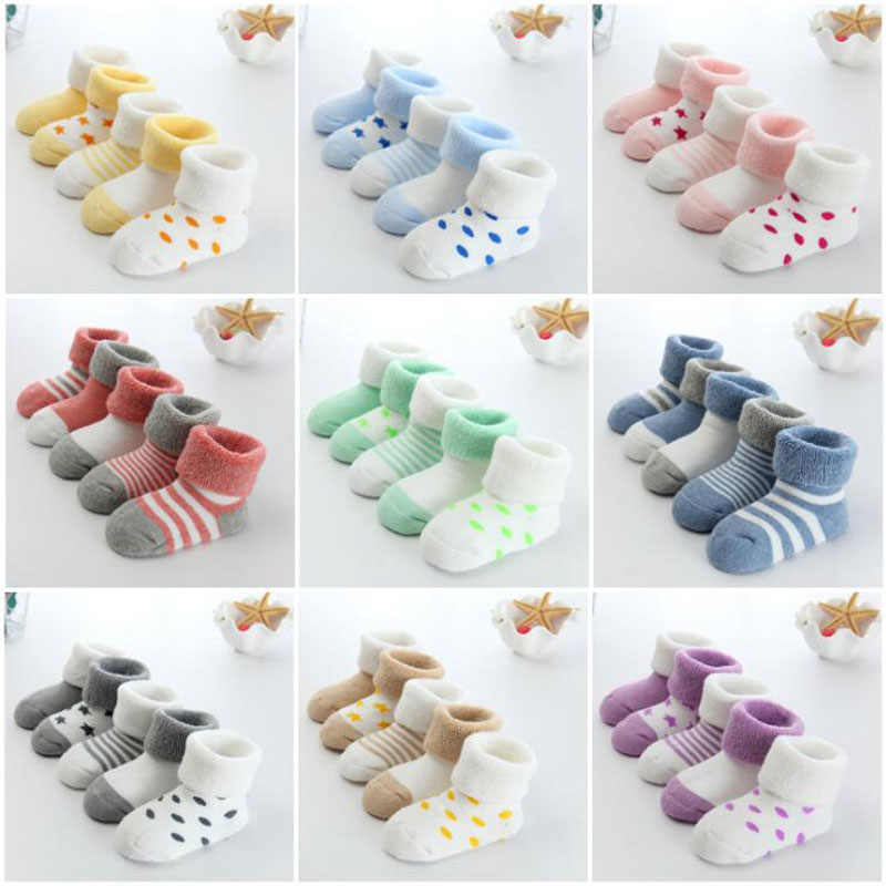 2018 New warm baby toddler socks cartoon cotton autumn and winter baby foot socks