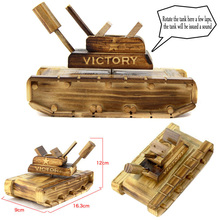 New Retro Wooden Crafts Simulation Tank Music Box Creative Gifts Practical Home Decoration Children's Toys